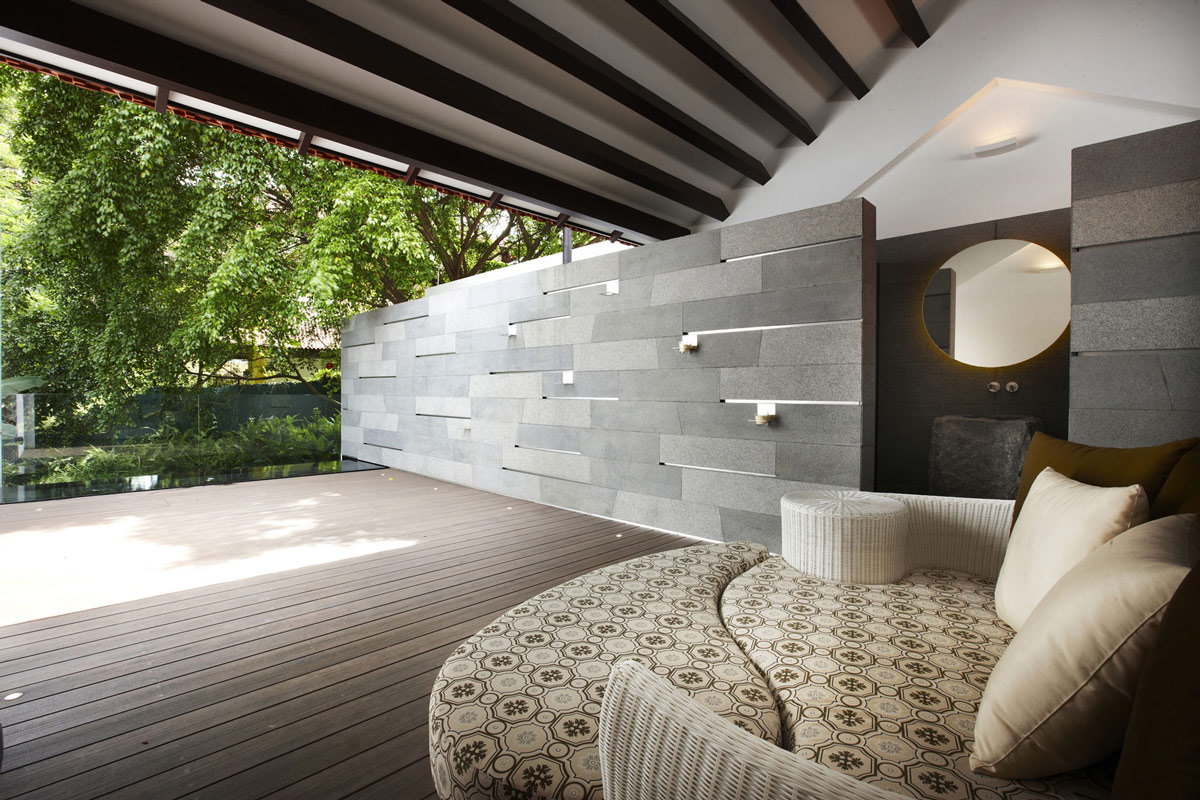 Terrace, Wood Decking, Shop House Renovation in Singapore
