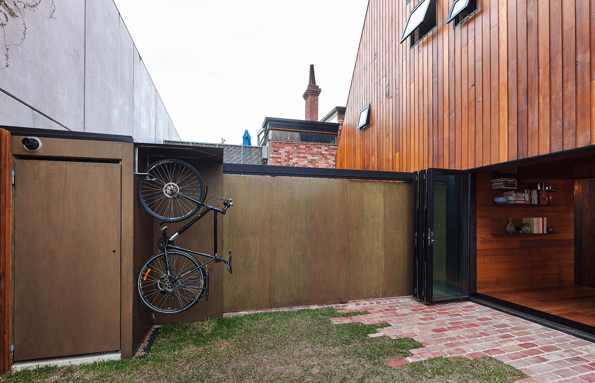 Garden Divider Fence, Two-Home Extension Within a Single Building in Richmond, Australia