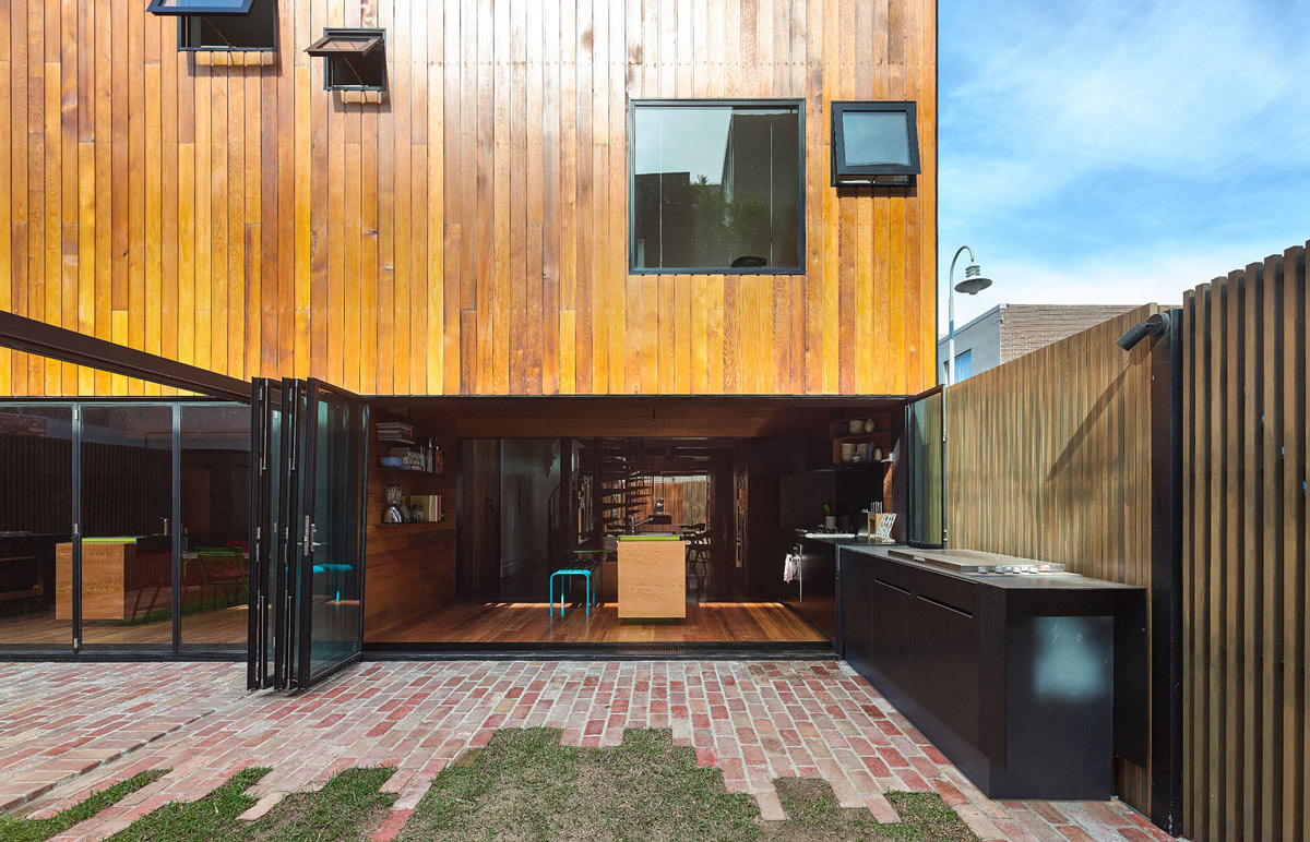 Patio Doors, Terrace, Two-Home Extension Within a Single Building in Richmond, Australia