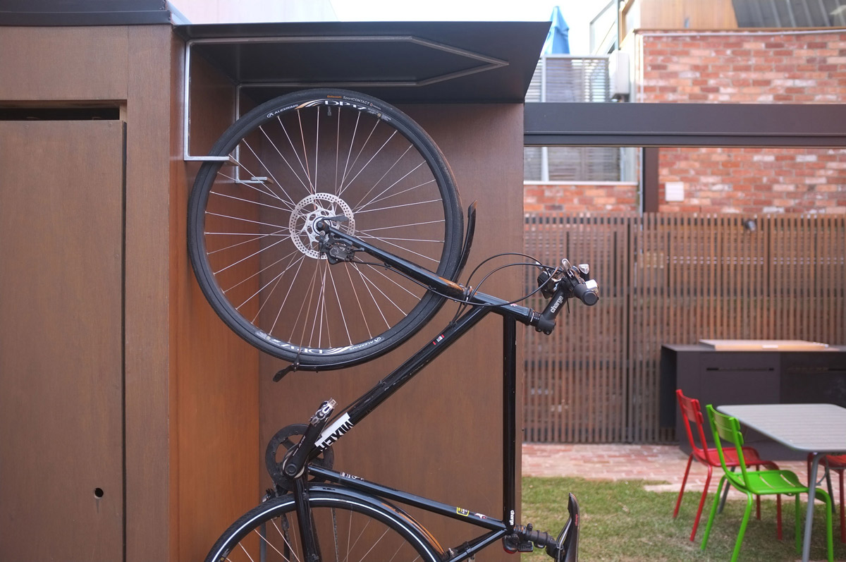 Vertical Bike Rack, Two-Home Extension Within a Single Building in Richmond, Australia