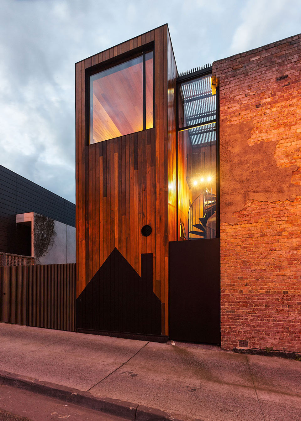 Wood, Glass & Brick Design, Two-Home Extension Within a Single Building in Richmond, Australia