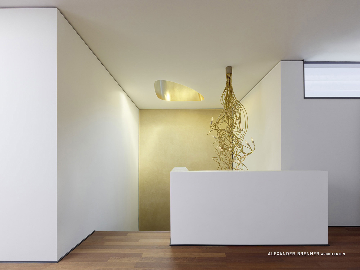 Landing, Lighting, Elegant Villa in Stuttgart, Germany