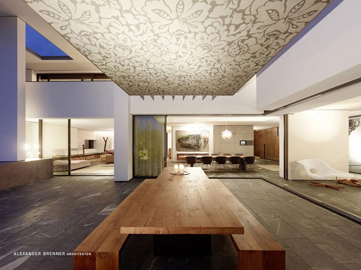 Outdoor Living Space, Elegant Villa in Stuttgart, Germany