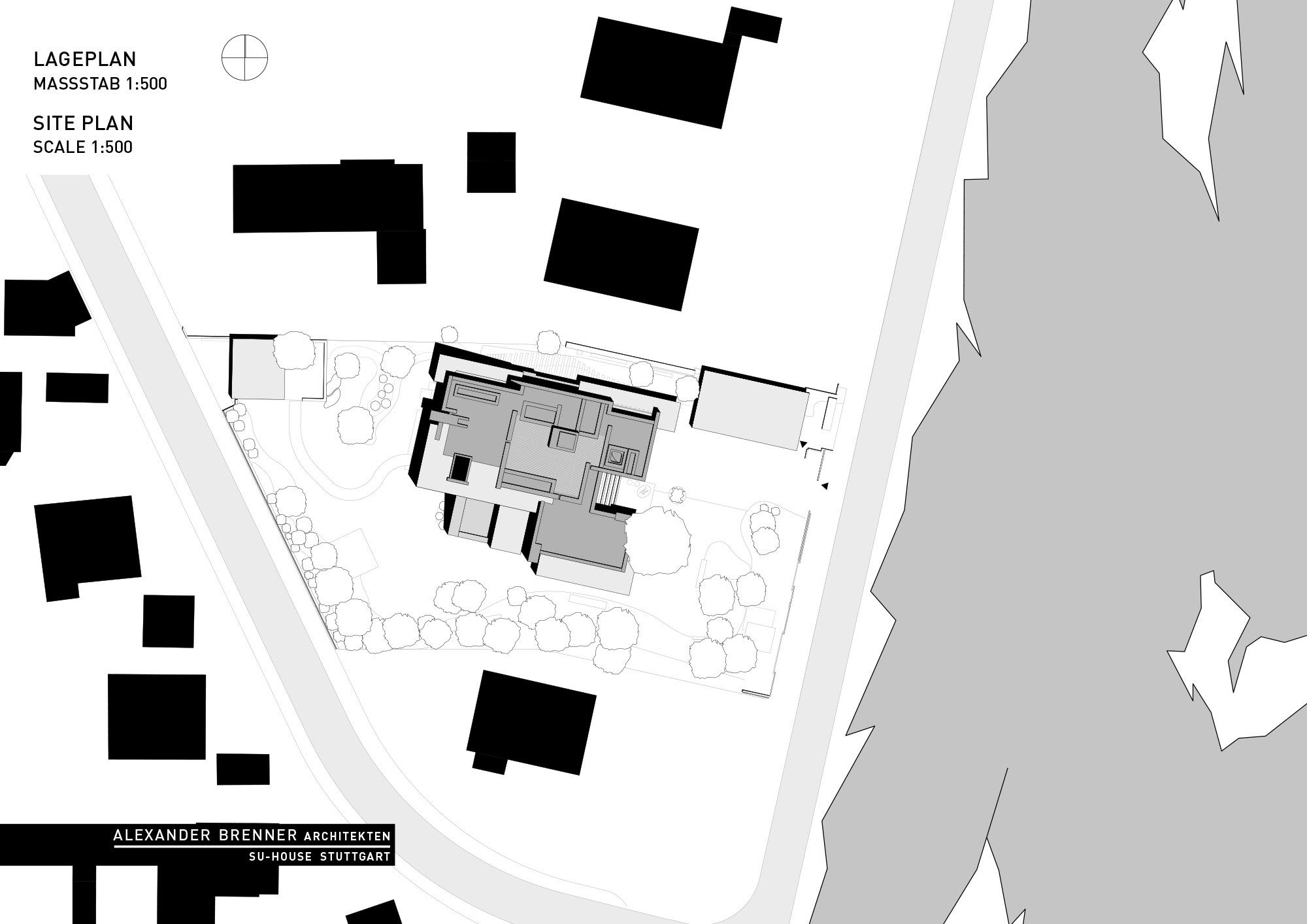 Site Plan, Elegant Villa in Stuttgart, Germany