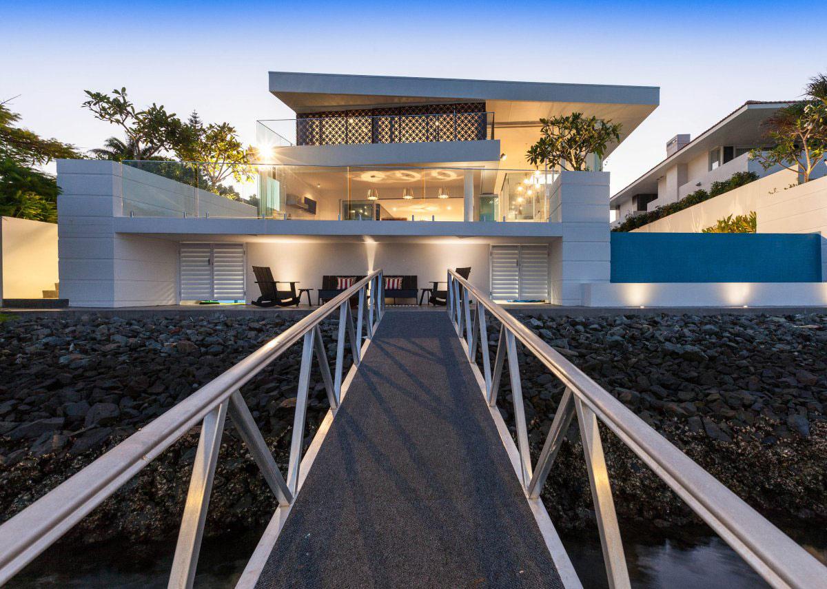Ramp, Outdoor Lighting, Stunning Waterfront Home in Queensland, Australia