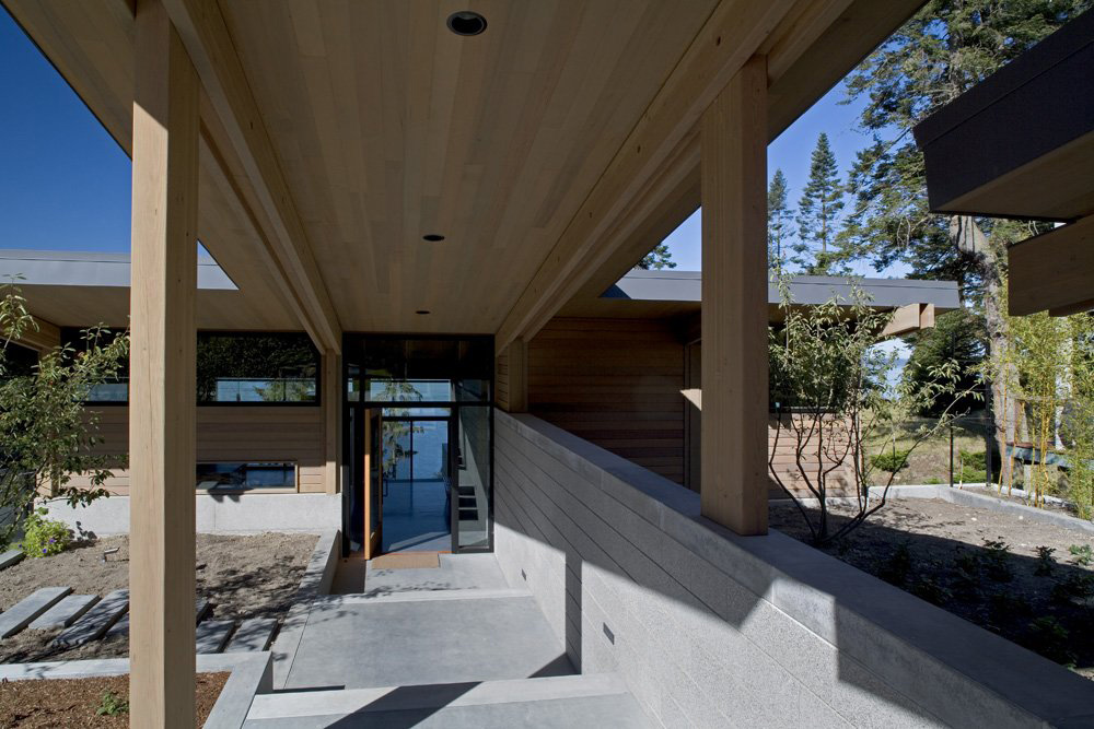 Covered Entrance, Whidbey Island Cabin with Exceptional Views