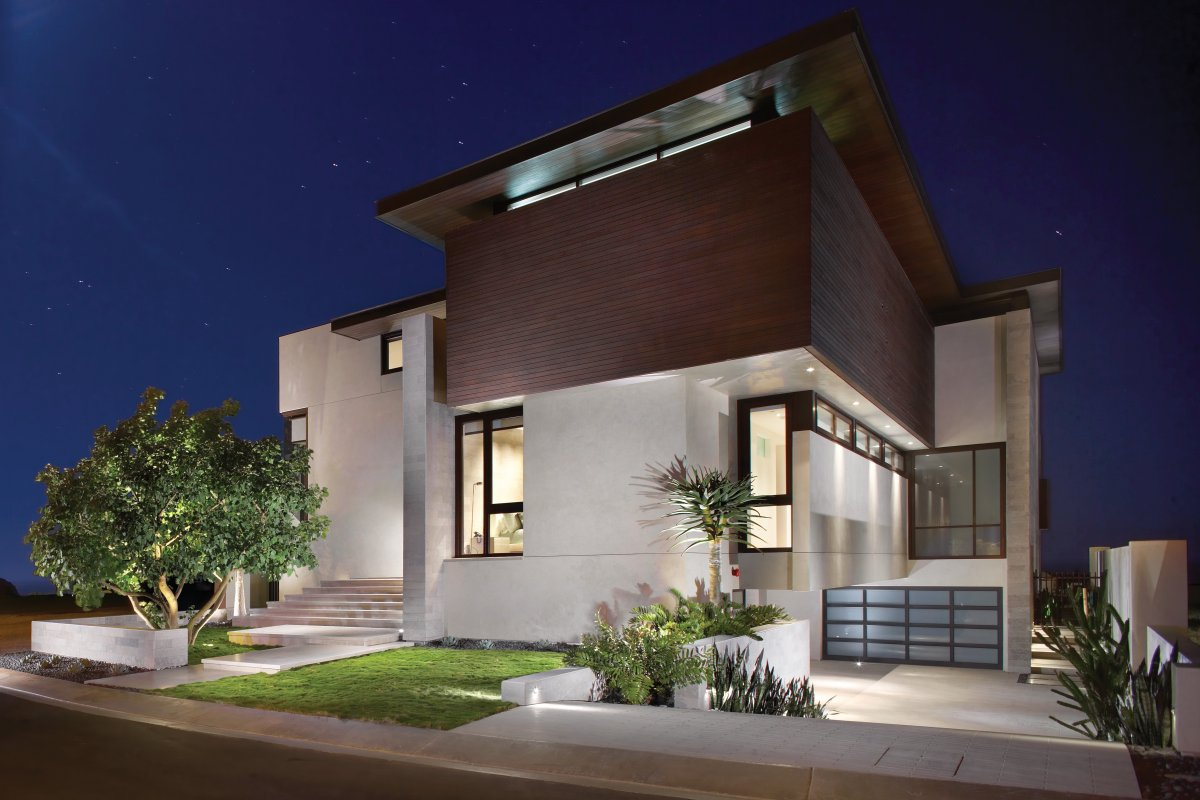 Garage driveway contemporary beach house in dana point for Award winning architects