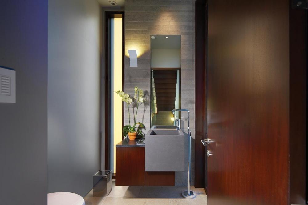 Modern Bathroom, Contemporary Beach House in Dana Point, California