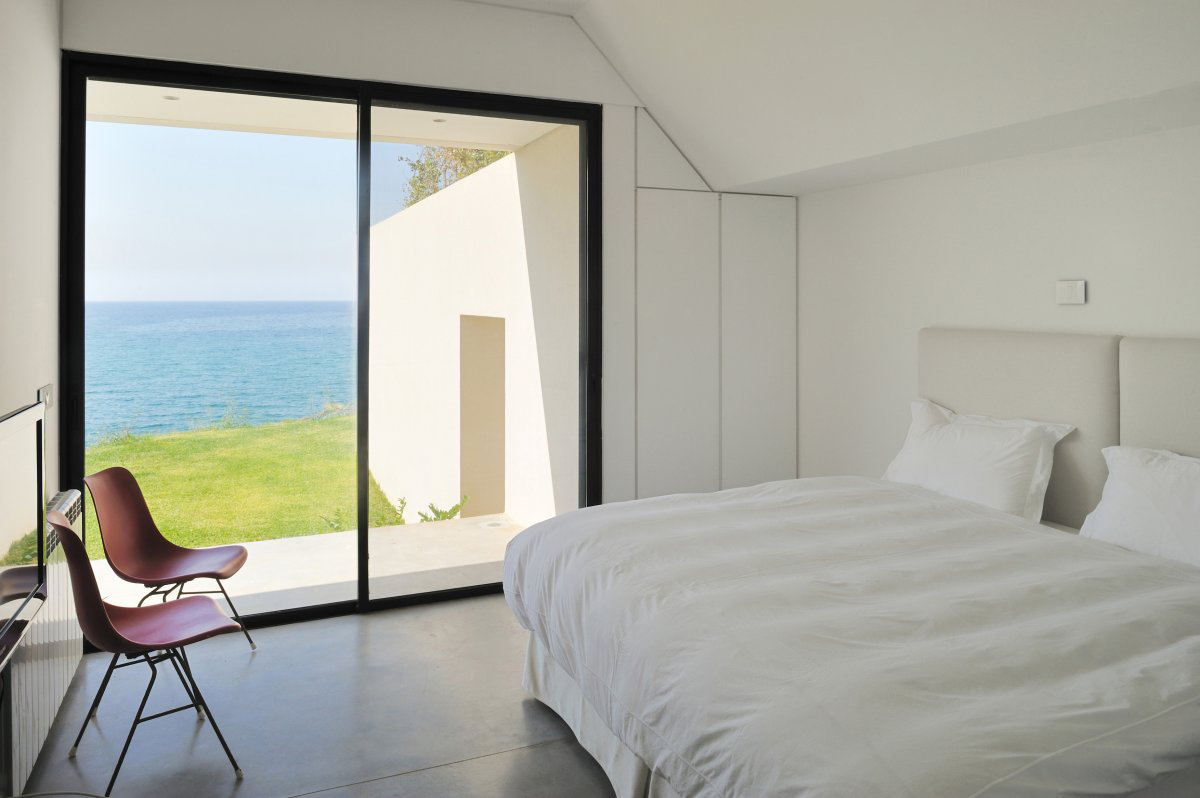 Balcony, Patio Doors, Bedroom, Striking Oceanfront House in Jbeil, Lebanon