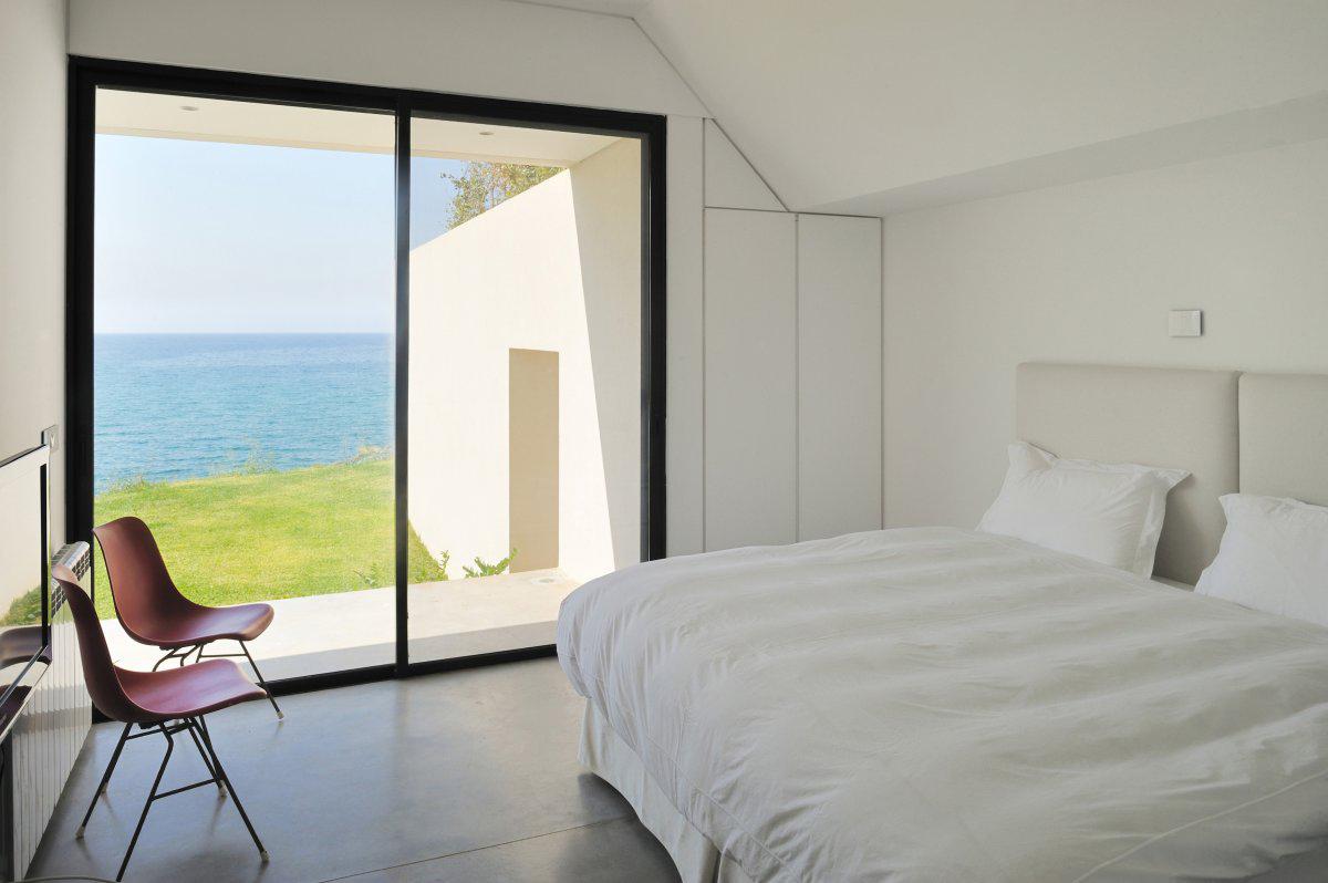 Balcony, Patio Doors, Bedroom, Striking Oceanfront House in Jbeil, Lebanon