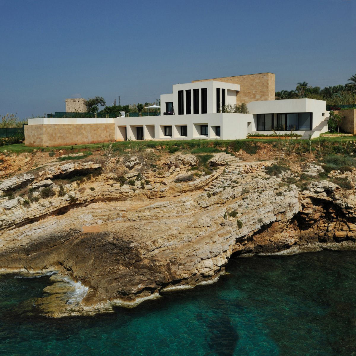 Cliffs, Striking Oceanfront House in Jbeil, Lebanon