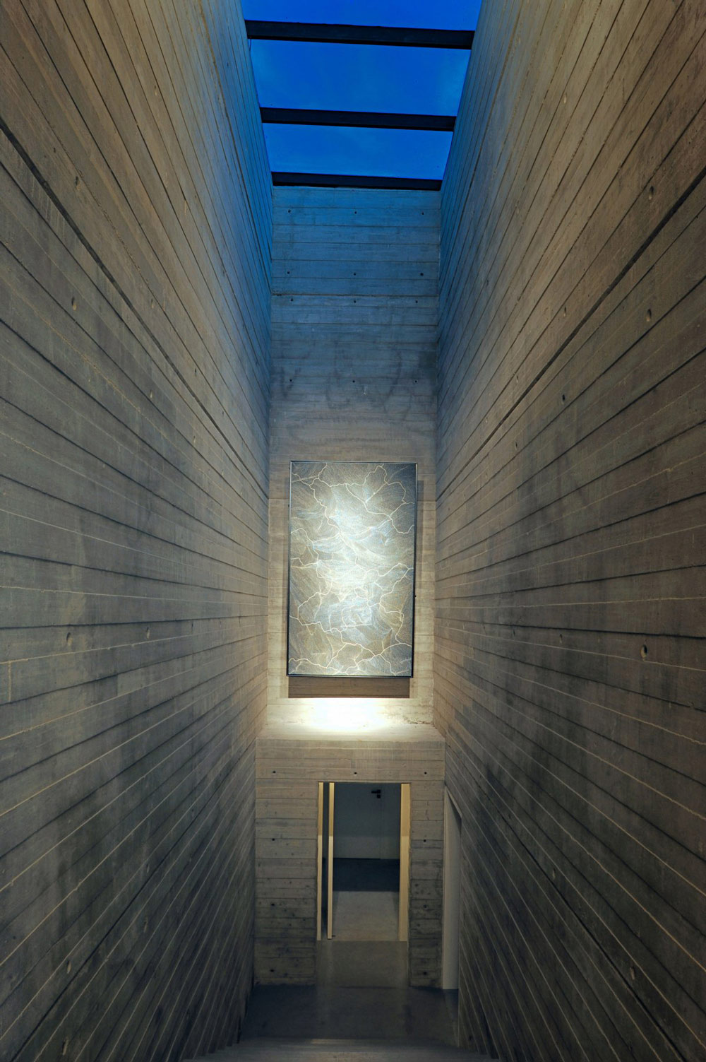 Concrete Stairs & Walls, Art, Striking Oceanfront House in Jbeil, Lebanon