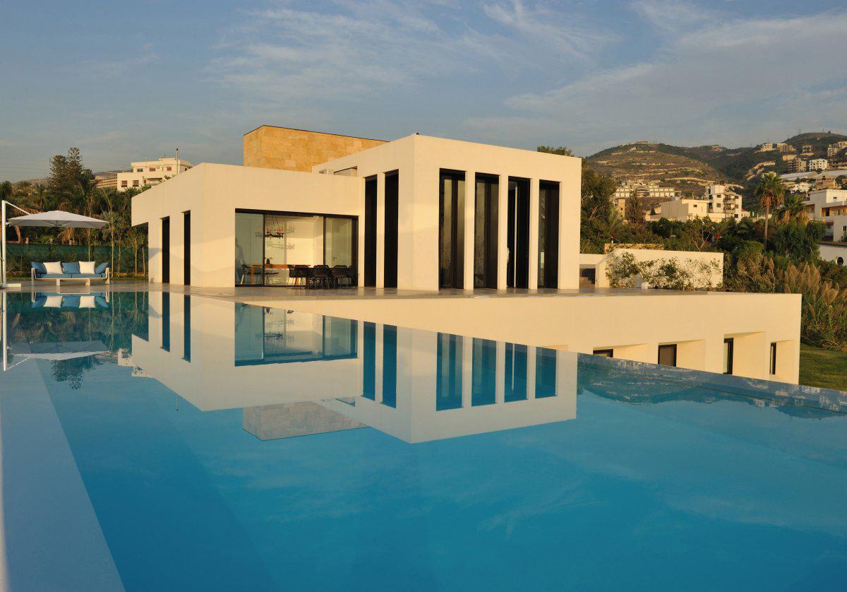 Infinity Pool, Striking Oceanfront House in Jbeil, Lebanon