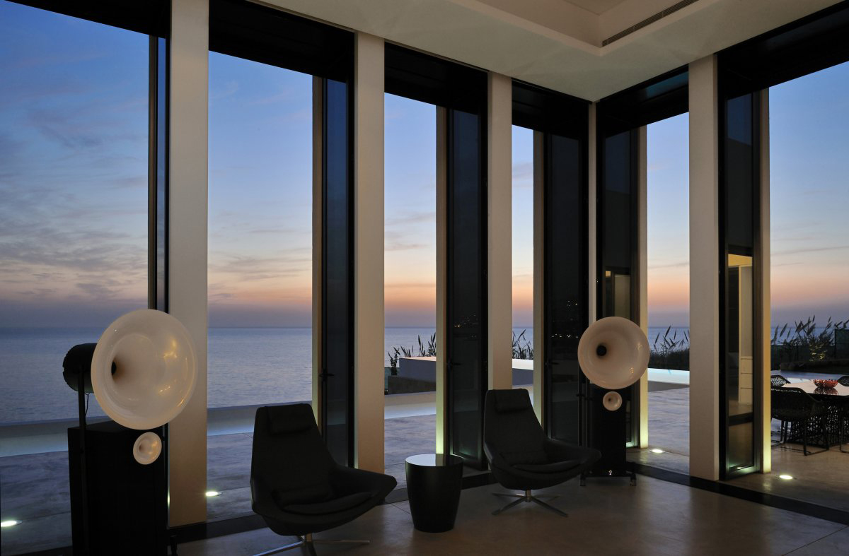 Large Windows, Sea Views, Striking Oceanfront House in Jbeil, Lebanon
