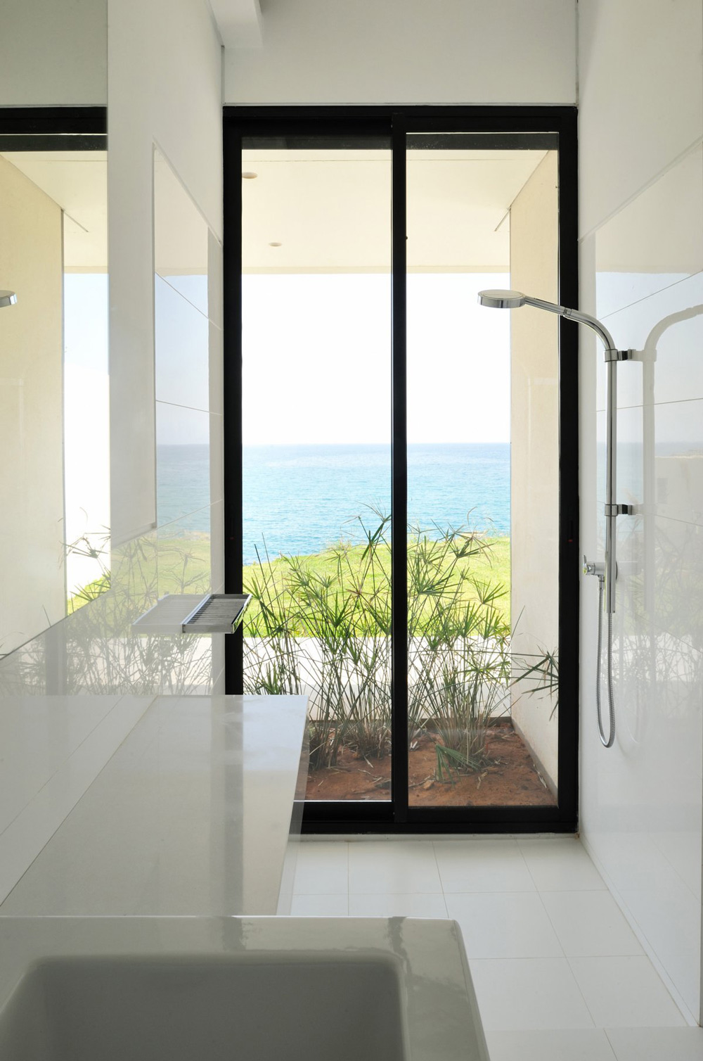Shower, Bathroom, Striking Oceanfront House in Jbeil, Lebanon