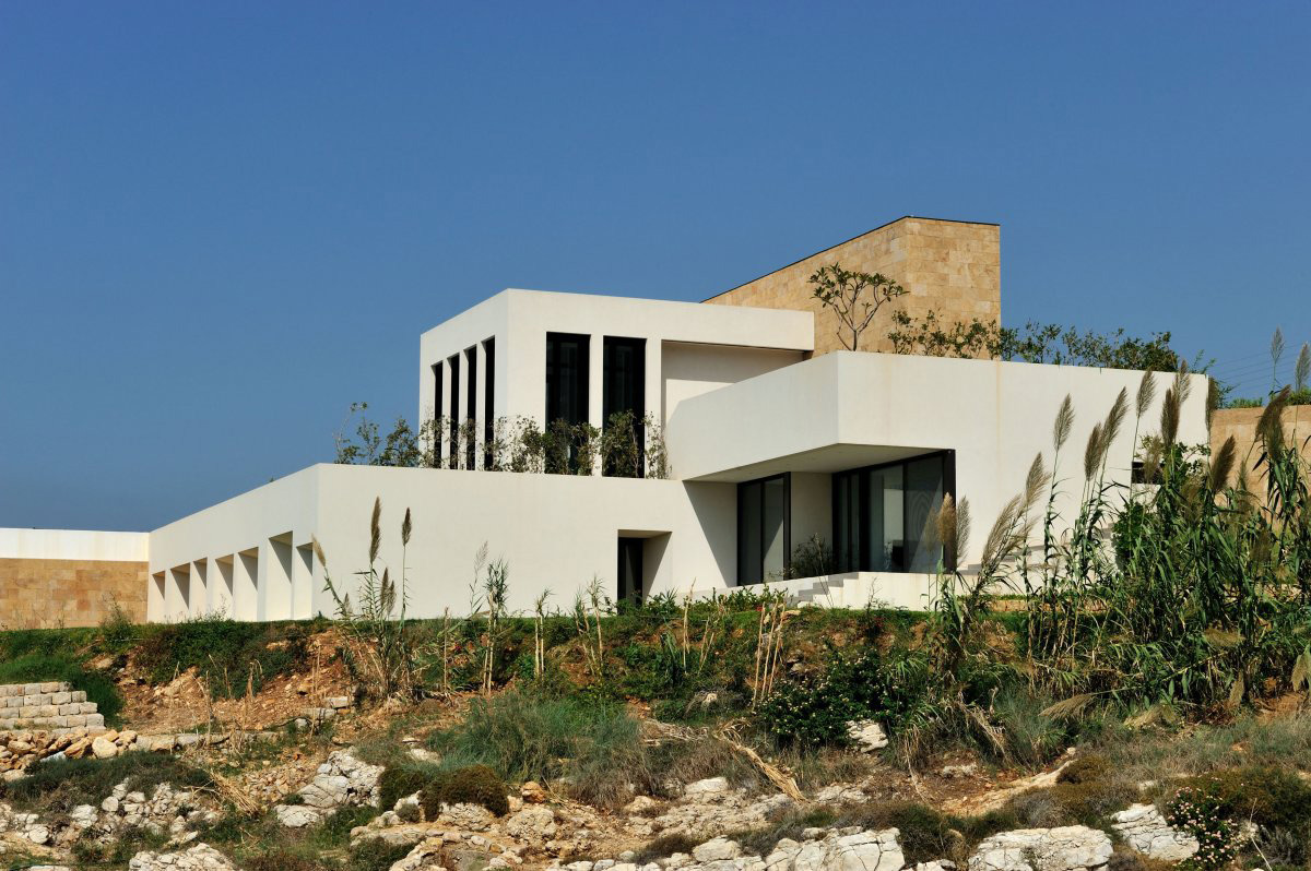 Side View, Striking Oceanfront House in Jbeil, Lebanon
