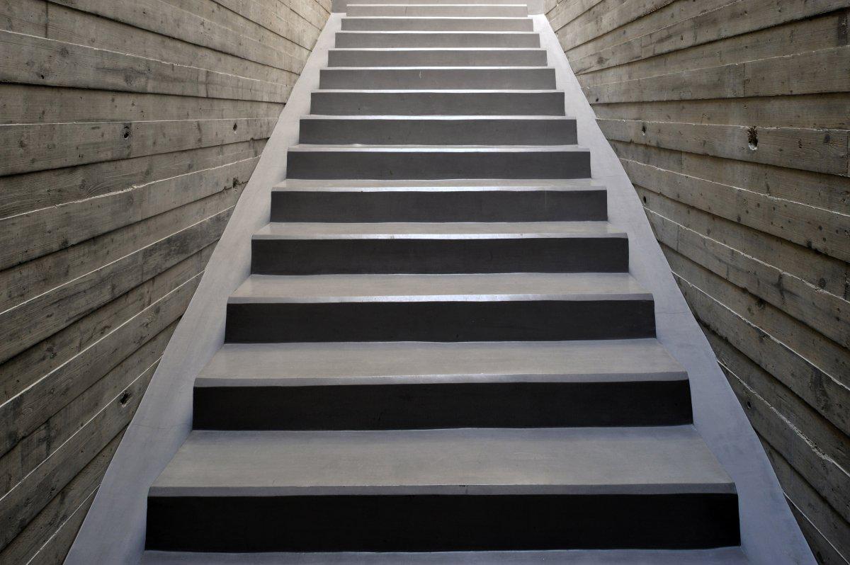 Stairs Detail, Striking Oceanfront House in Jbeil, Lebanon