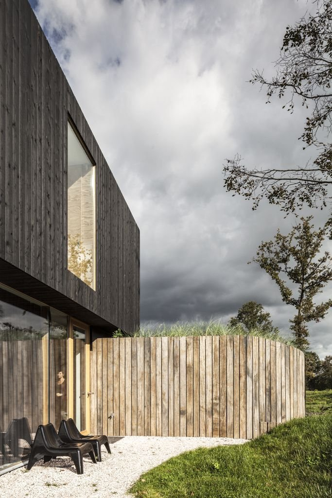 Wood Cladding, Energy Efficient Home in Bloemendaal, The Netherlands