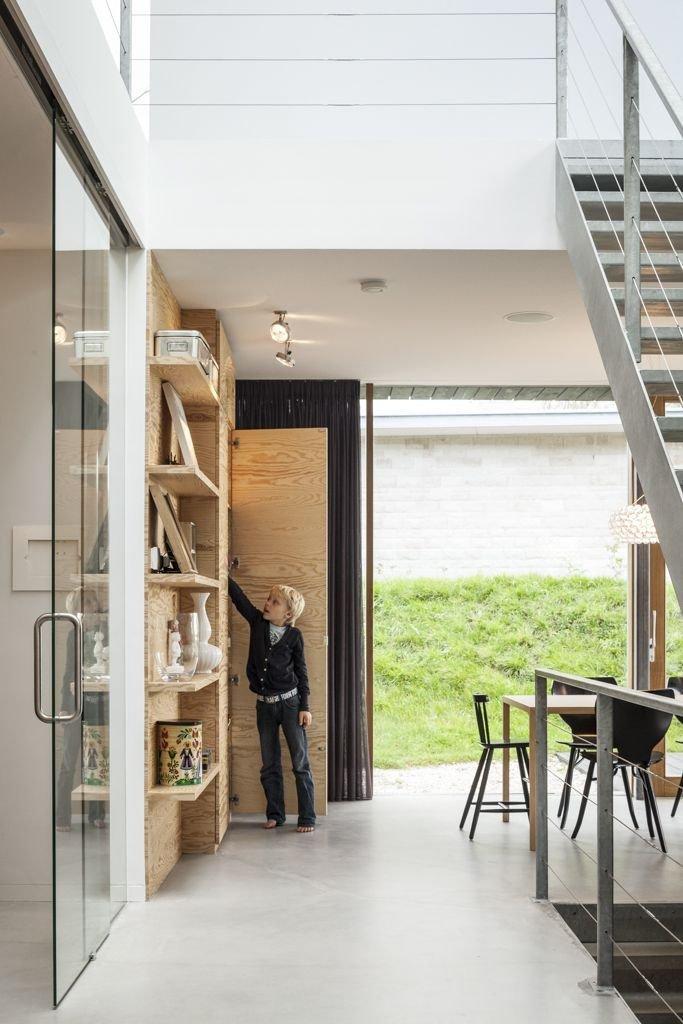 Glass Door, Metal Stairs, Energy Efficient Home in Bloemendaal, The Netherlands