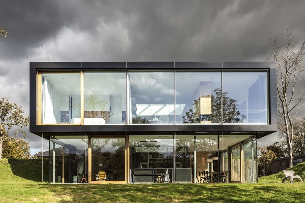 Glass Walls, Energy Efficient Home in Bloemendaal, The Netherlands