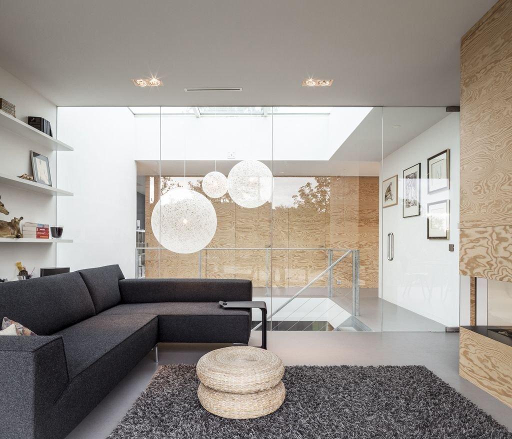 Grey Sofa, Rug, Energy Efficient Home in Bloemendaal, The Netherlands
