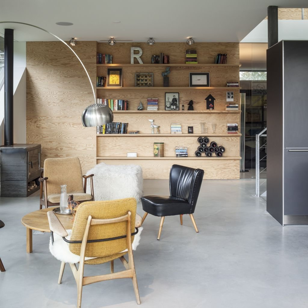 Living Space, Fireplace, Energy Efficient Home in Bloemendaal, The Netherlands