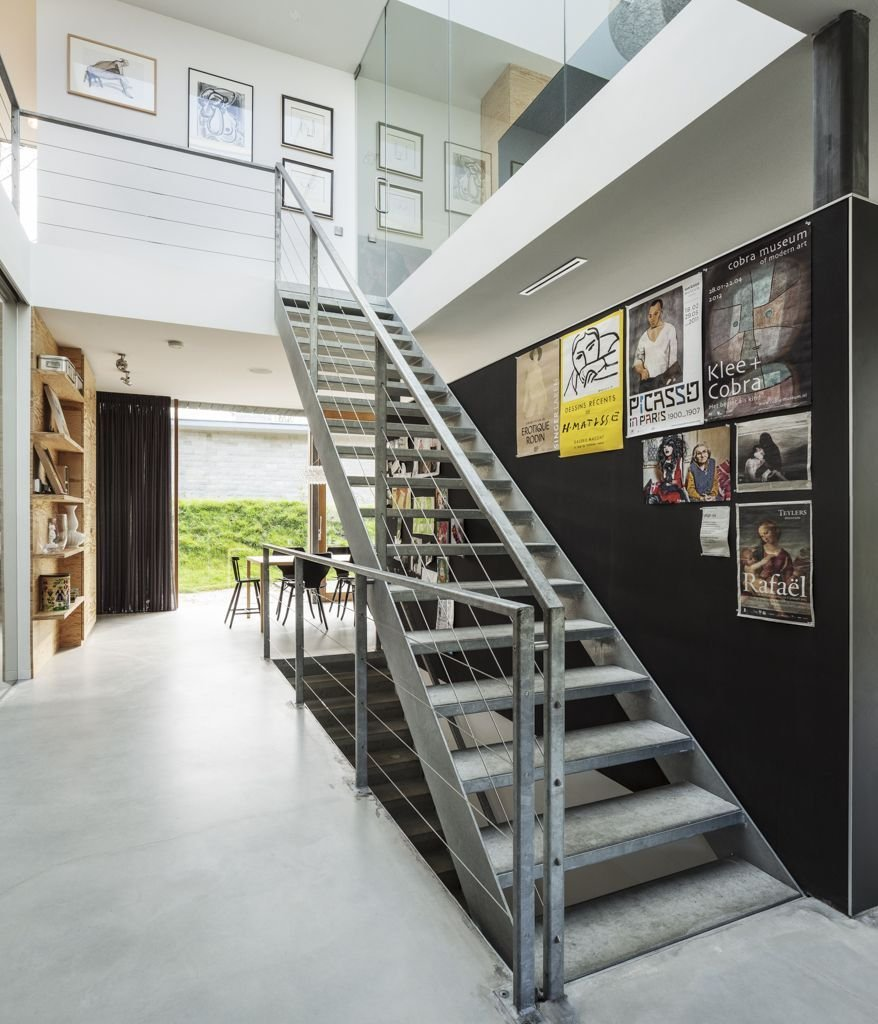 Metal Stairs, Posters, Energy Efficient Home in Bloemendaal, The Netherlands