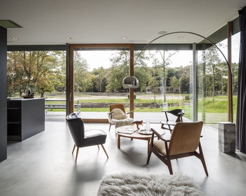 Modern Light, Small Table, Energy Efficient Home in Bloemendaal, The Netherlands