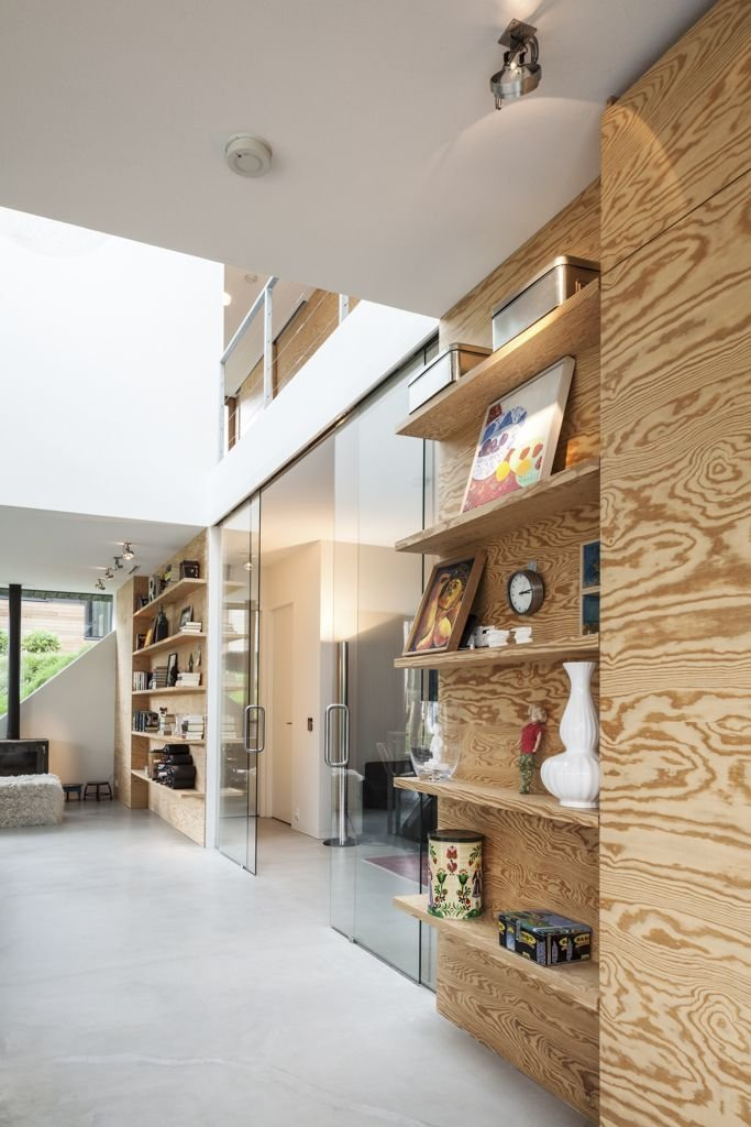 Shelving, Glass Doors, Energy Efficient Home in Bloemendaal, The Netherlands