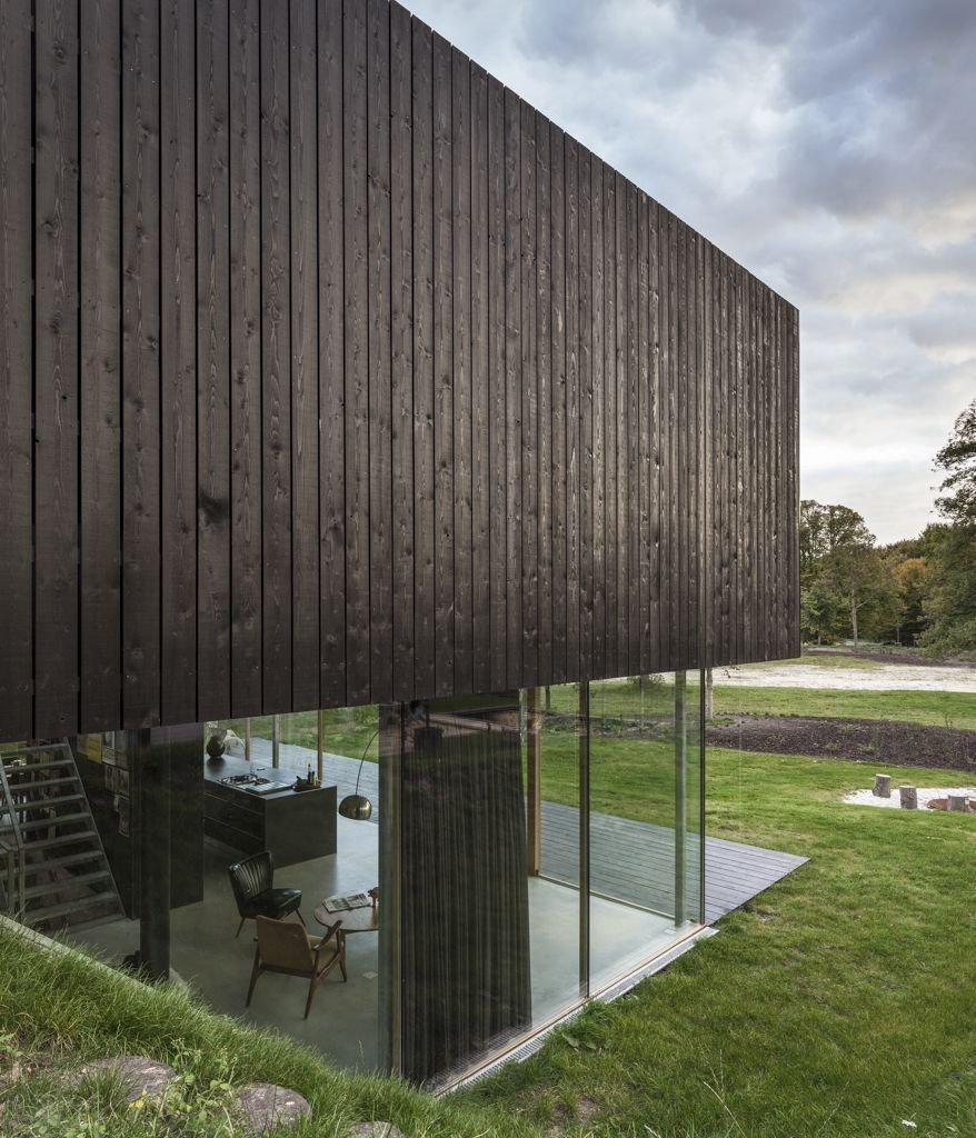 Wood & Glass Construction, Energy Efficient Home in Bloemendaal, The Netherlands