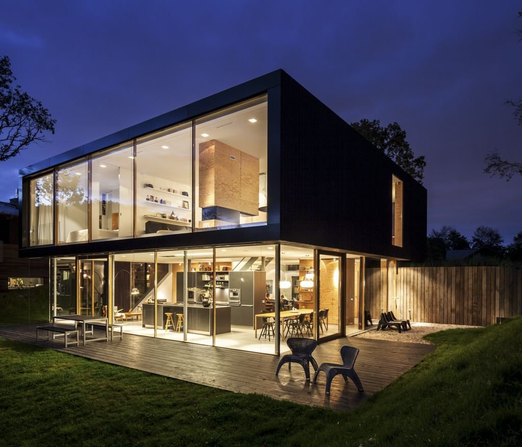 Wooden Terrace, Patio Doors, Energy Efficient Home in Bloemendaal, The Netherlands