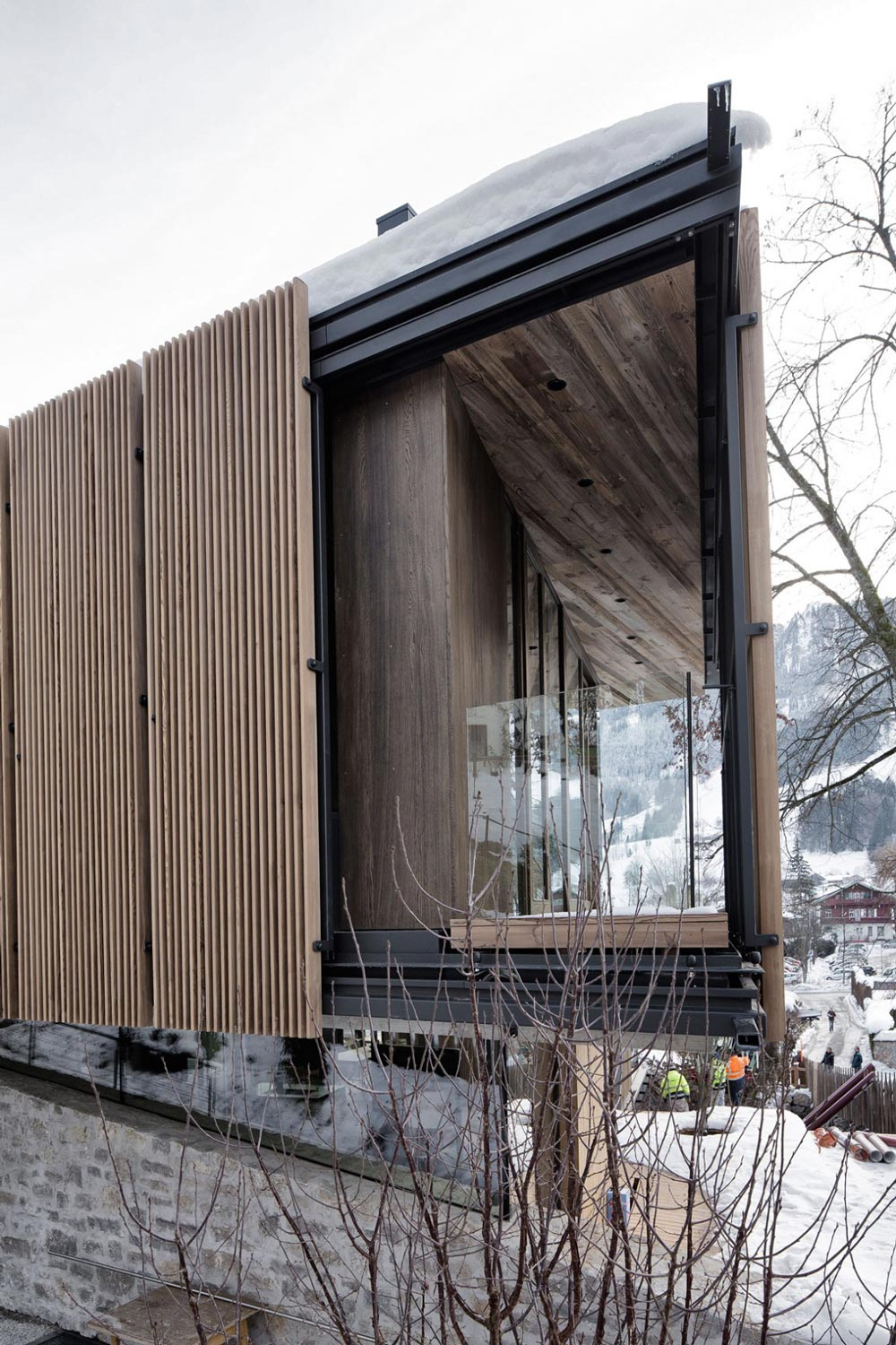 Glass Balustrading, Modern Home in the Mountains, Kitzbühel, Austria