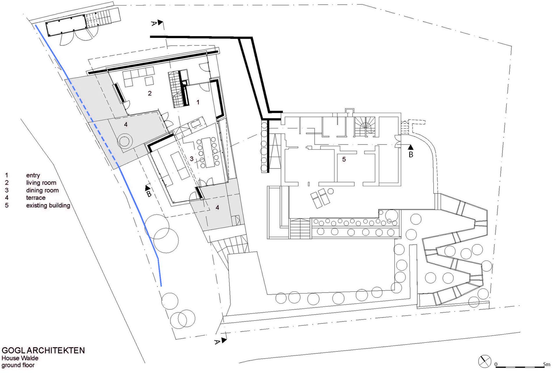 Ground Floor Plan, Modern Home in the Mountains, Kitzbühel, Austria
