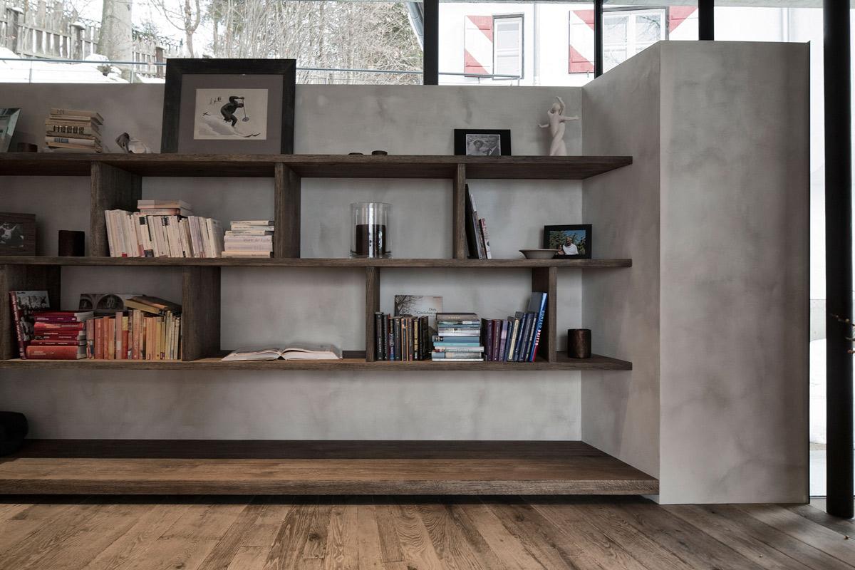 Wooden Shelves, Modern Home in the Mountains, Kitzbühel, Austria