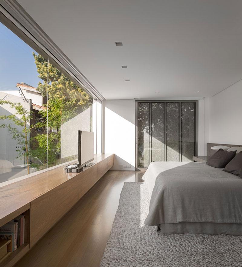 Bedroom, Sophisticated Family Home in São Paulo, Brazil
