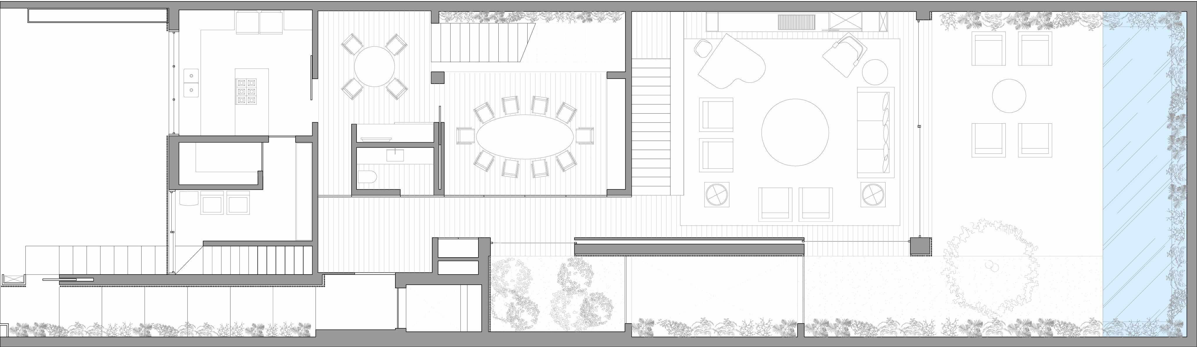 Ground Floor Plan, Sophisticated Family Home in São Paulo, Brazil