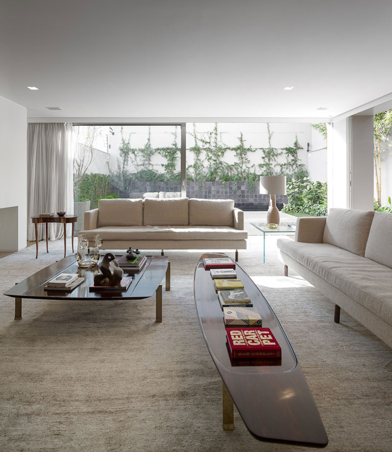 Living Room, Sophisticated Family Home in São Paulo, Brazil