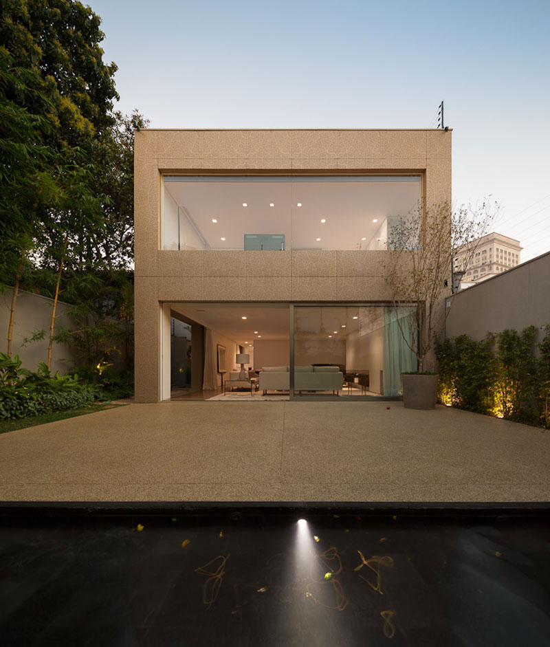 Water Feature, Terrace, Sophisticated Family Home in São Paulo, Brazil