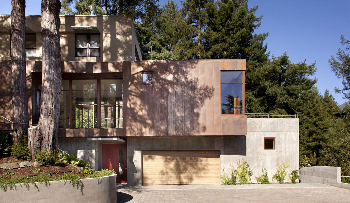 Garage, Entrance, Impressive House in Marin, California