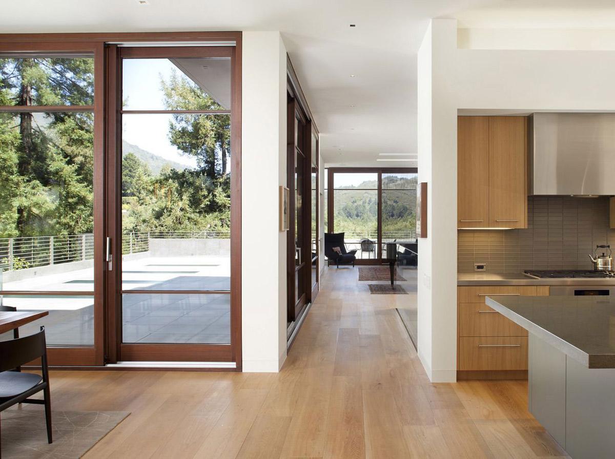 Hallway, Impressive House in Marin, California