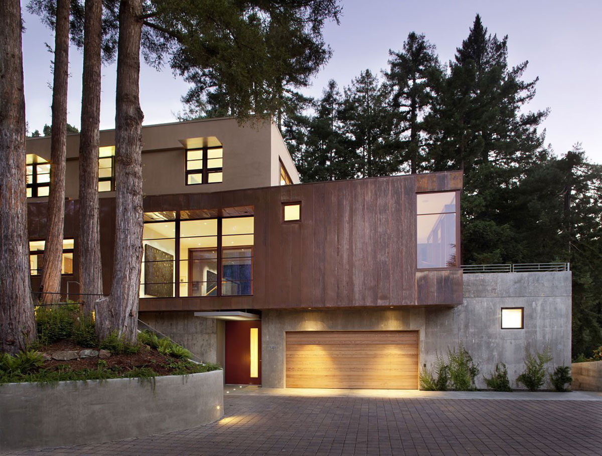 Lighting, Garage, Entrance, Impressive House in Marin, California