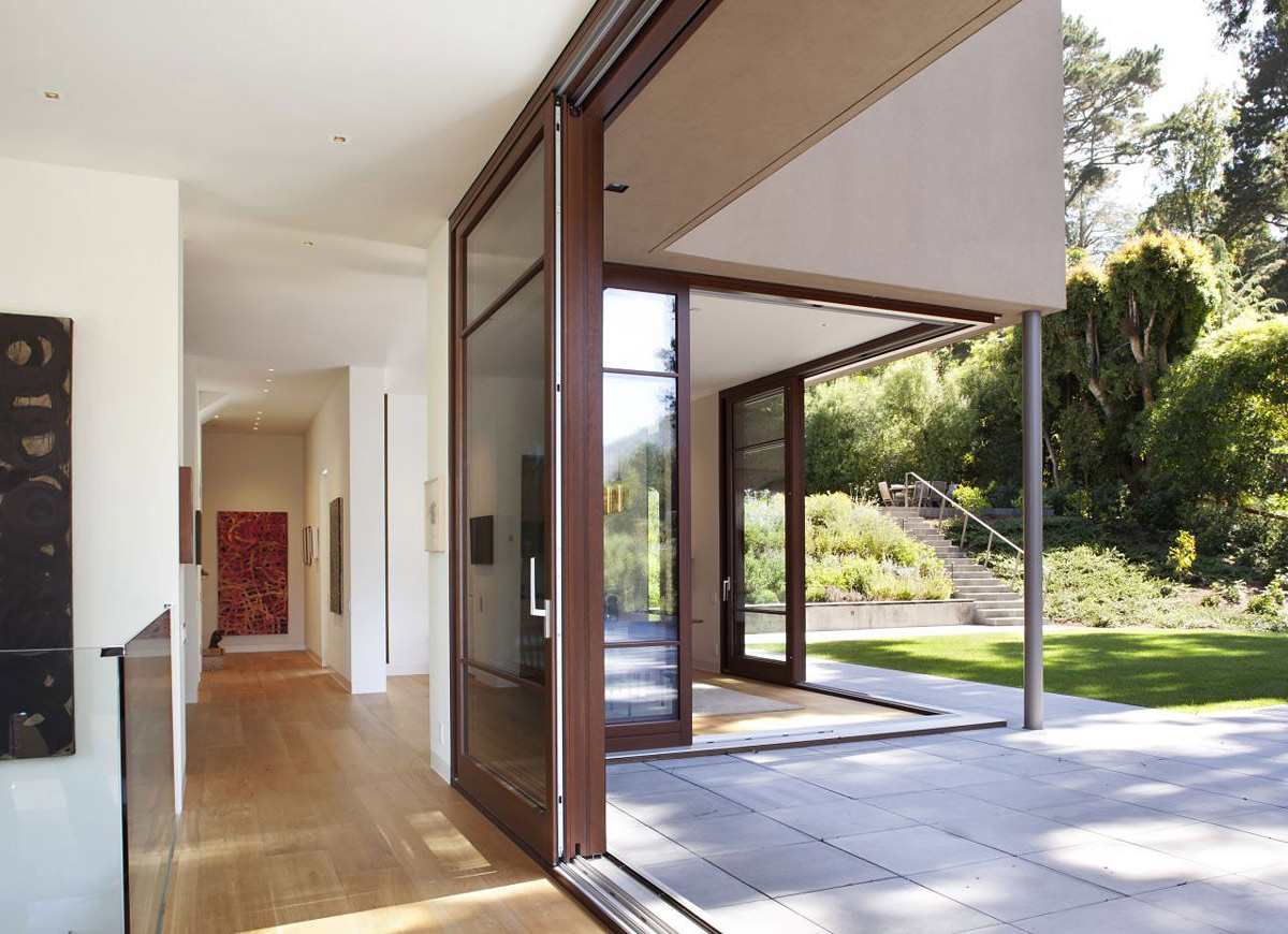 Patio Doors, Terrace, Impressive House in Marin, California