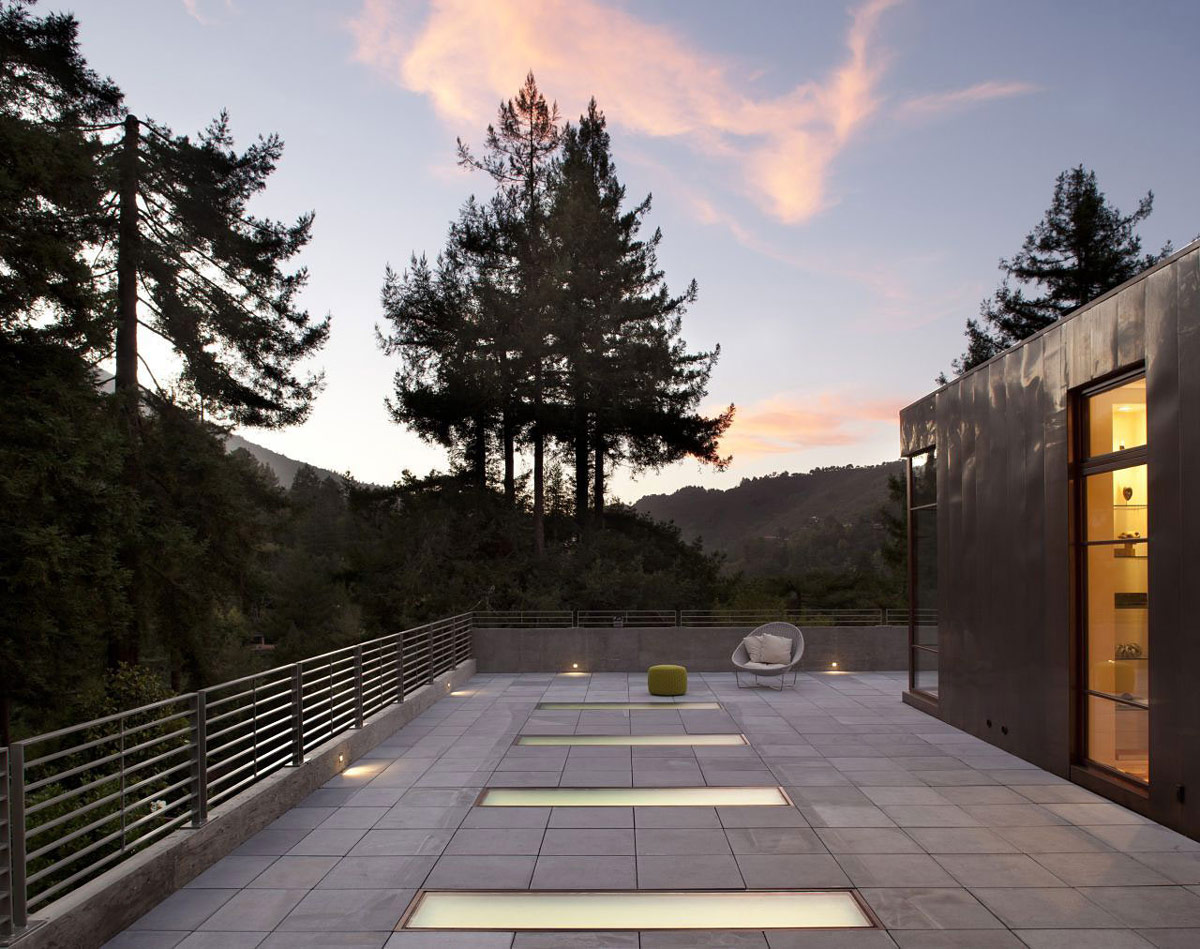 Roof Terrace, Impressive House in Marin, California