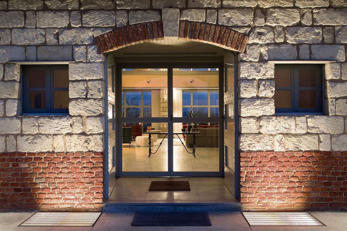 Entrance, Glass Doors, Rustic Farmhouse in Rosignano Monferrato, Italy