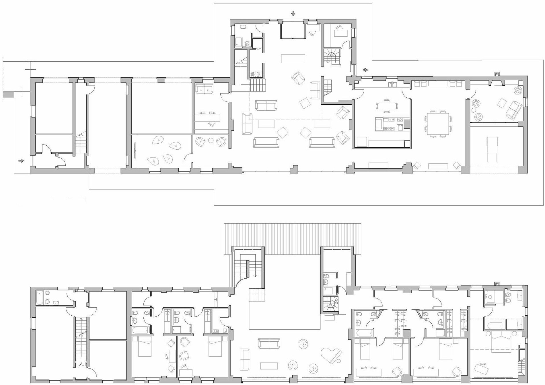 Ground Amp First Floor Plans Rustic Farmhouse In Rosignano