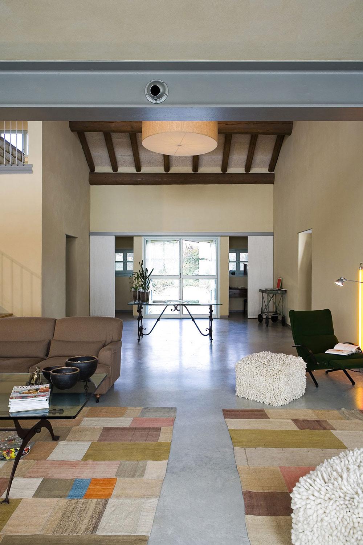 Living Space, Rustic Farmhouse in Rosignano Monferrato, Italy