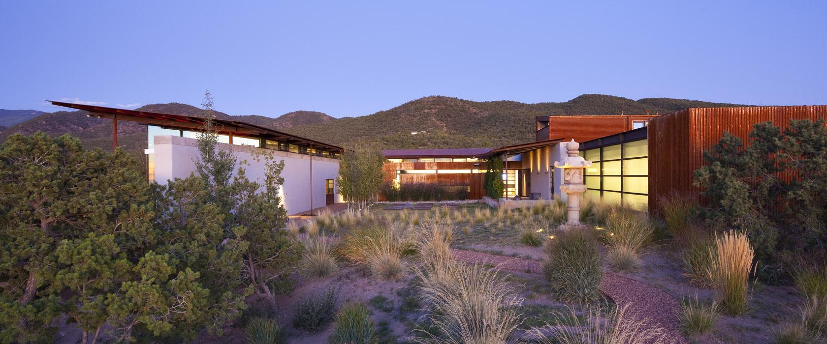 Architecture, Desert House in Santa Fe, New Mexico