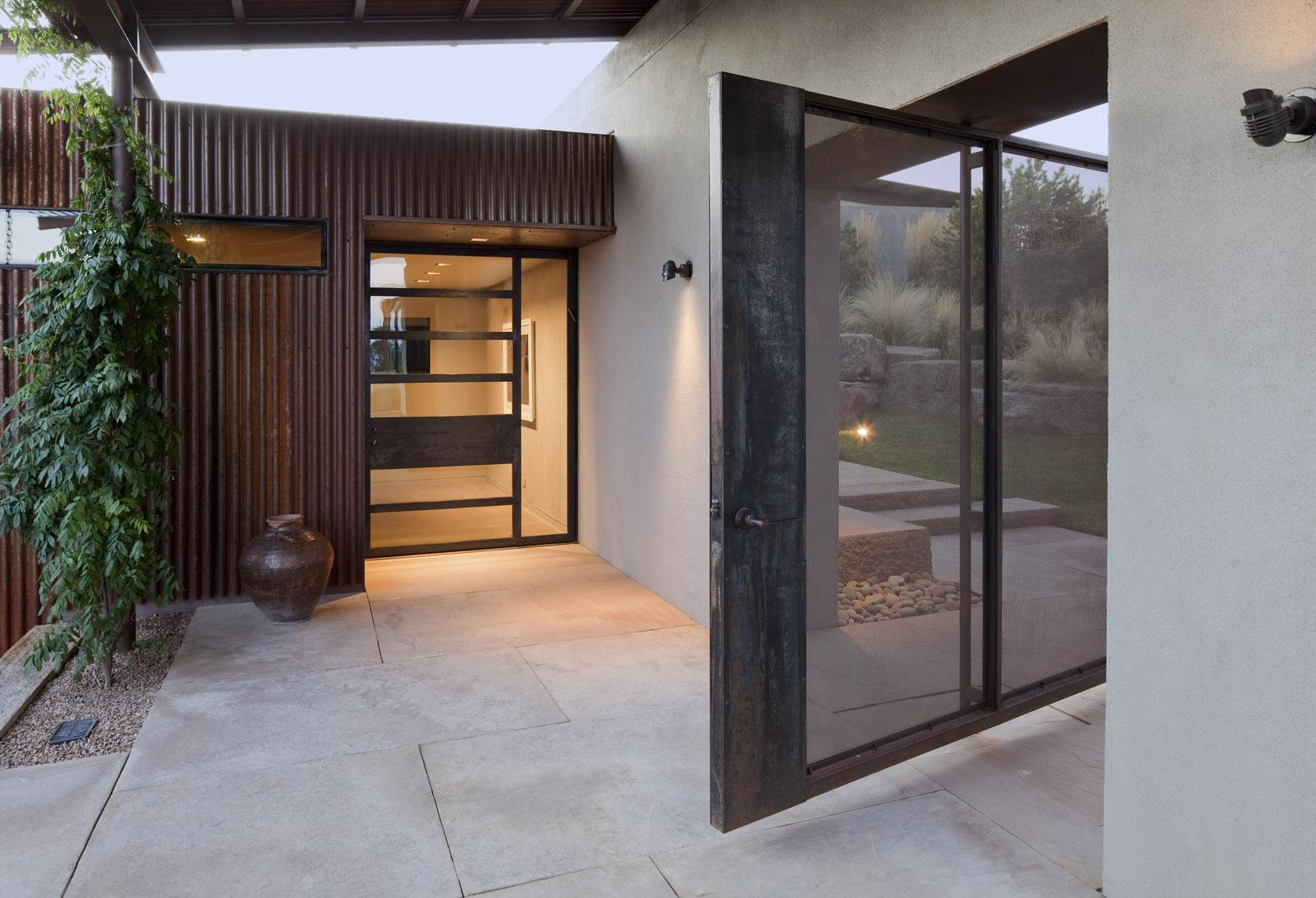 Entrance, Desert House in Santa Fe, New Mexico