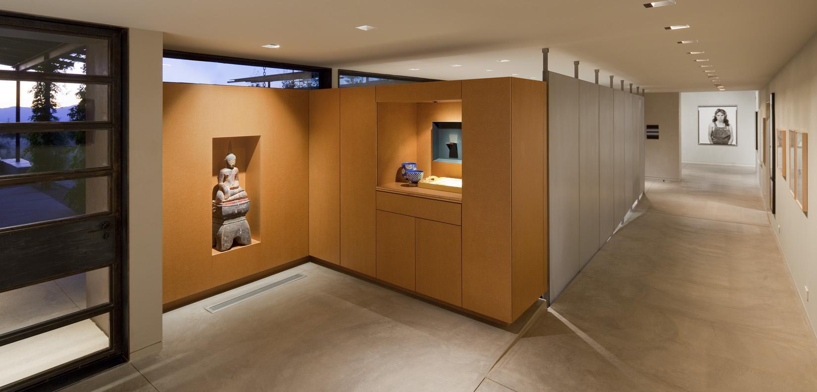 Hallway, Art, Desert House in Santa Fe, New Mexico
