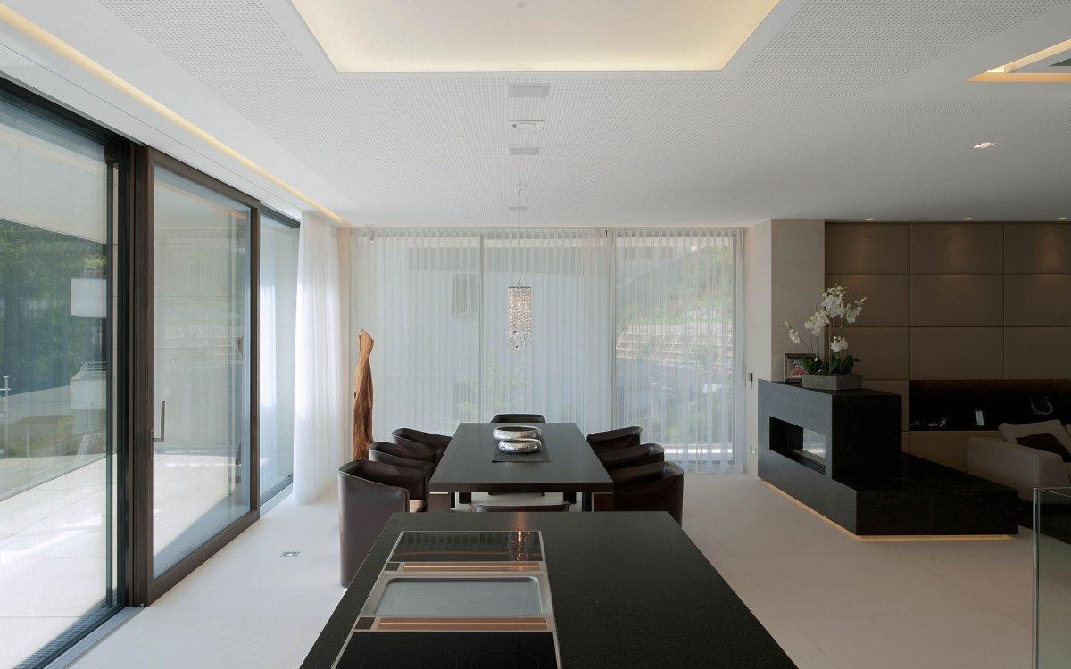 Open Plan, Dining Space, KS House in Stein, Austria